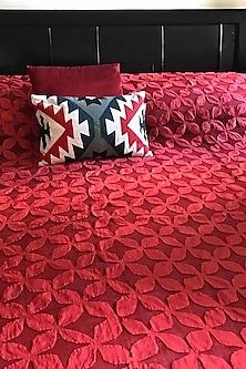 Scarlet Splendour Applique Bedcover by Karmadori