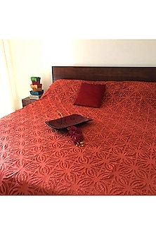 Terracotta Applique Bedcover by Karmadori