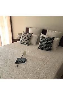 Shannon Splendour White Applique Bedcover by Karmadori