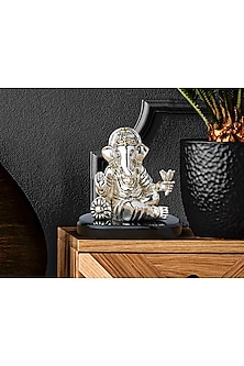 Silver Plated Equi Ganpati Idol (S) by Shaze