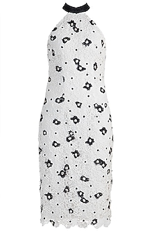 White Embroidered Midi Dress by Amit Aggarwal