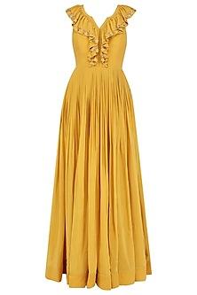 Mariegold Yellow Ruffle Anarkali