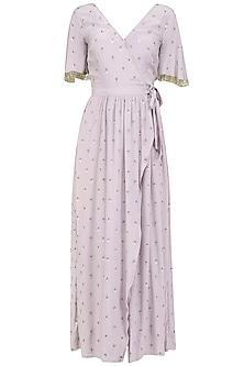 Lilac Wrap Dress by Aashna Behl