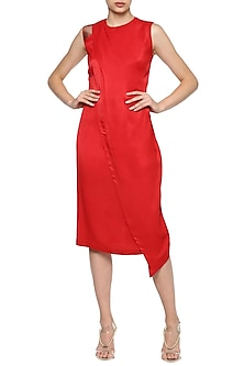 Red Pencil Dress by Amit Aggarwal