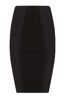 Black Goat Suede Pencil Skirt
