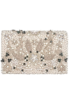 Gold Embellished Clutch by Studio Accessories
