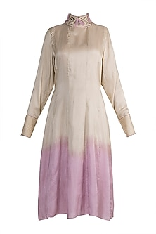Nude Embroidered Tunic by Adah