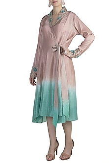 Nude Embroidered Dip Dyed Tunic by Adah