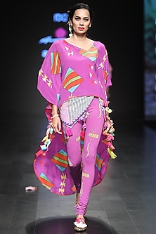 Deep Purple Printed Kaftan Dress by Anupamaa Dayal