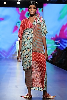 Multicolor Button Down Long Dress by Anupamaa Dayal