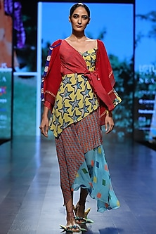 Multicolor Printed Layered Dress by Anupamaa Dayal