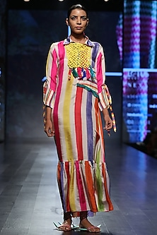 Multicolor Striped Maxi Dress by Anupamaa Dayal