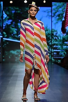 Multi Color Button Down Dress by Anupamaa Dayal