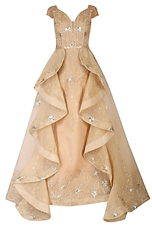 Golden Embroidered Gown