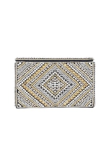 Gold & Silver Embroidered Clutch by Ash Amaira
