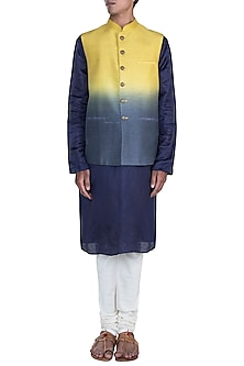 Yellow & Grey Shaded Jacket by Anju Agarwal