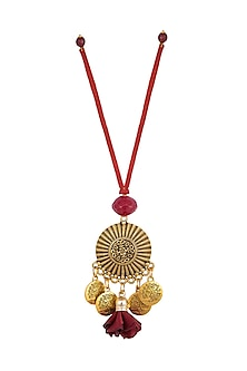 Red Textured Circular Lumba by Anjali Jain