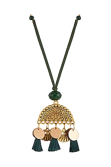 Green Textured Semi-Circular Lumba by Anjali Jain