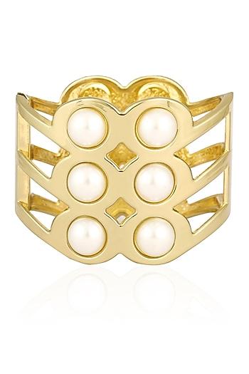 Aurum Chakra Gold Big Cuff