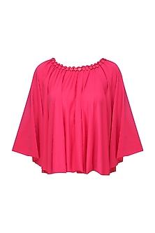 Pink Embellished Poncho
