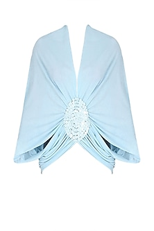 Sky Blue Sequinned Square Moon Poncho