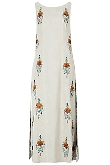 Khadi embroidered kurta with pants
