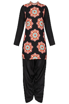 Black Applique Kurta with Salwar Pants