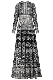 Black Printed Maxi Dress
