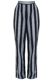 Indigo Blue Striped Straight Pants