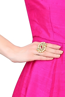 Gold Plated Paisley Design Ring
