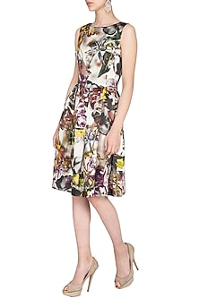 Multicolored Printed Frock Dress by AGT by Amit GT