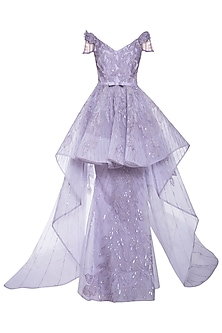 Mauve embroidered gown by AGT BY AMIT GT