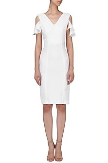 White Shift Dress by AGT By Amit GT