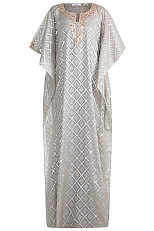 Smokey Grey Embellished Kaftan by Amaira