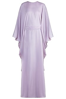 Lilac Tie-Up Belt Kaftan by Amaira