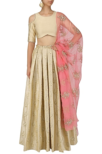 Embroidered Lehenga Blouse Set
