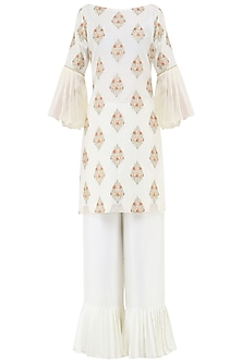 Ivory Embroidered Kurta Set