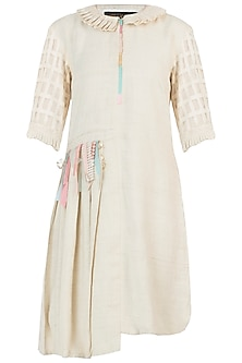Ivory pearl tassels dress