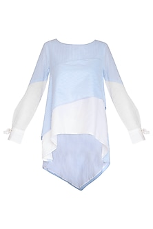 Blue Striped Top by Aruni
