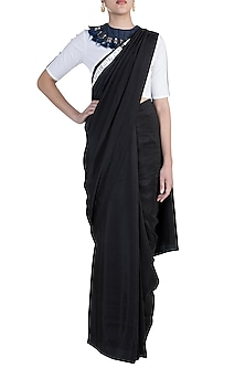 Black Shibori Saree Set by Anamika Khanna