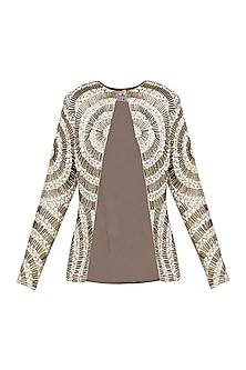 Gold and White Embroidered Jacket
