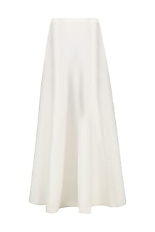 White Flared Maxi Skirt