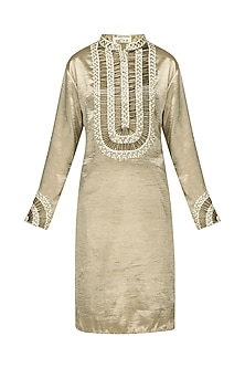 Gold Embroidered Kurta and Trousers
