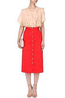 Dirty Flamingo Skirt Top Dress and Ruby by Ankita