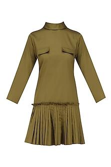 Military Green Short Dress