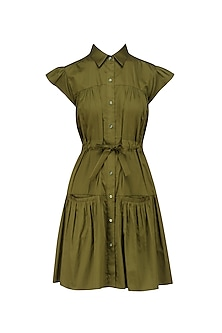 Military Green Shirt Dress
