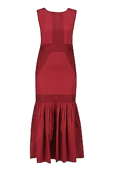 Burgandy Long Dress by Ankita