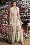 Pista Green Printed Lehenga Skirt With Blouse & Embroidered Jacket by Anita Dongre