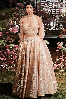Blush Embroidered Printed Lehenga Set