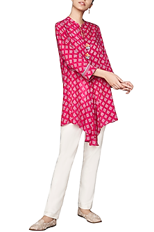 Pink Hand Block Printed Top by Anita Dongre